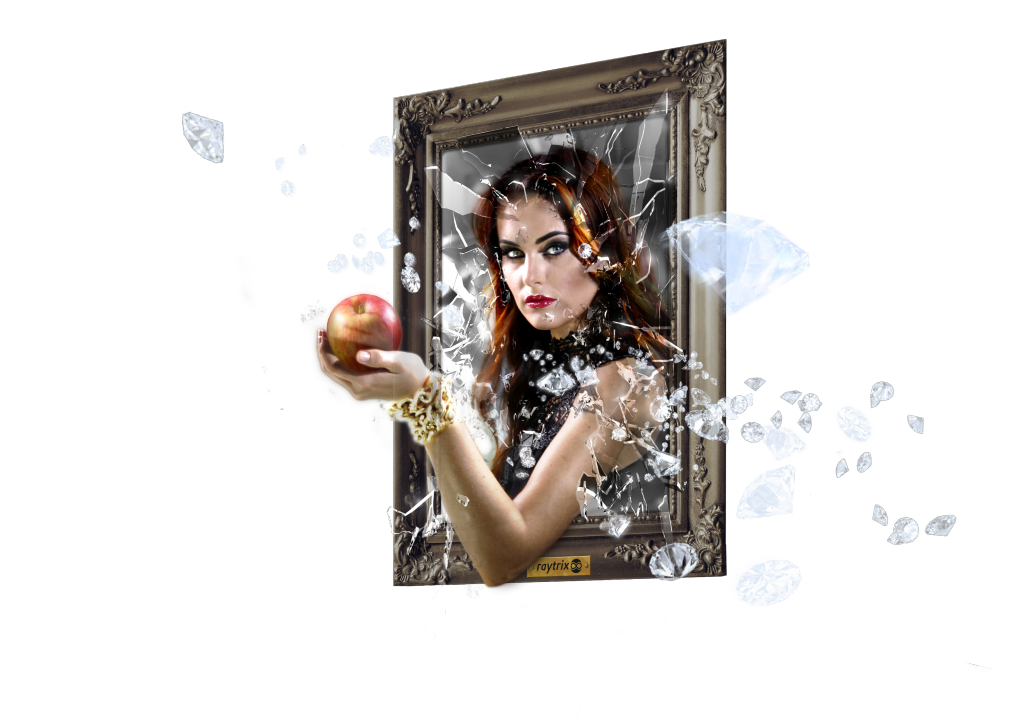 Snowwhite with an apple